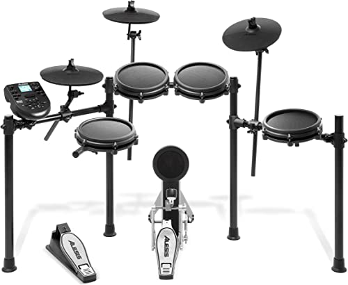 Alesis Nitro Mesh Kit | Eight Piece All-Mesh Electronic Drum Kit with Play Along Tracks, Drum Sticks & Drum Key Included