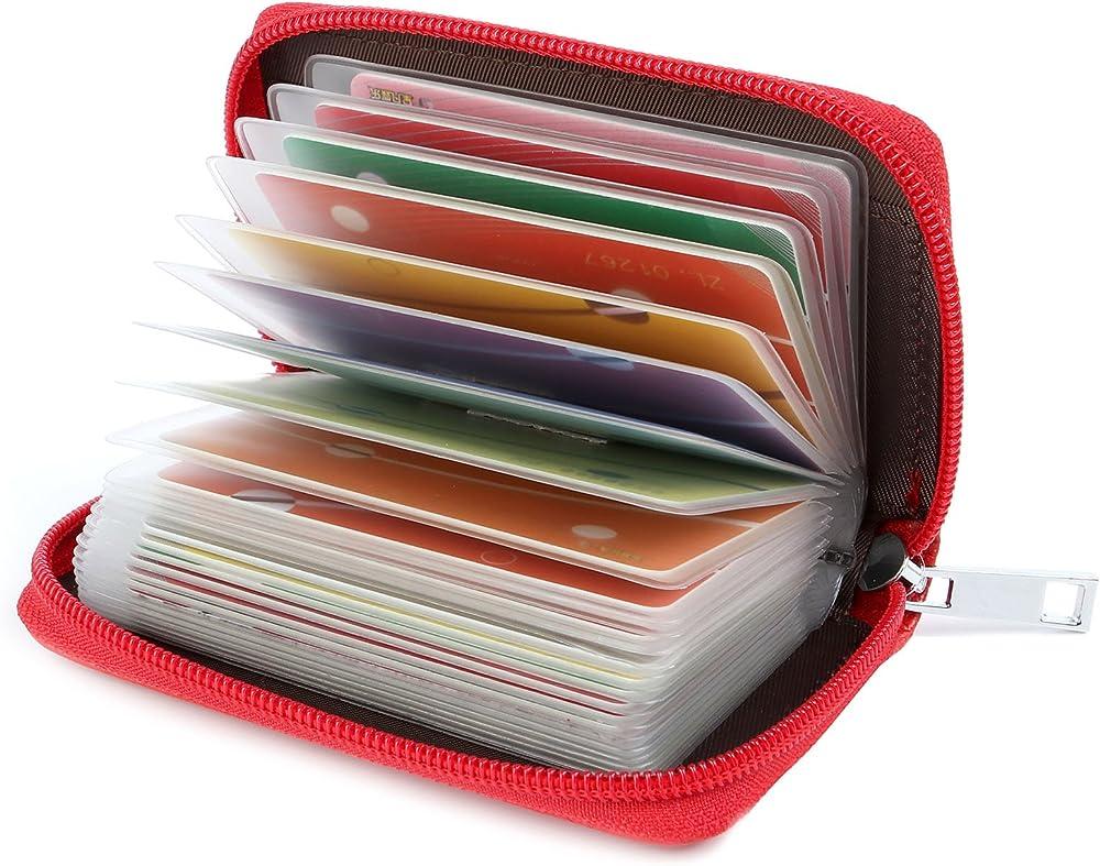 Geriineer, porta carte di credito, in vera pelle