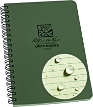 """product image for Rite in the Rain All-Weather Side-Spiral Notebook, 4 5/8"""" x 7"""", Green Cover, Universal Pattern (No. 973)"""