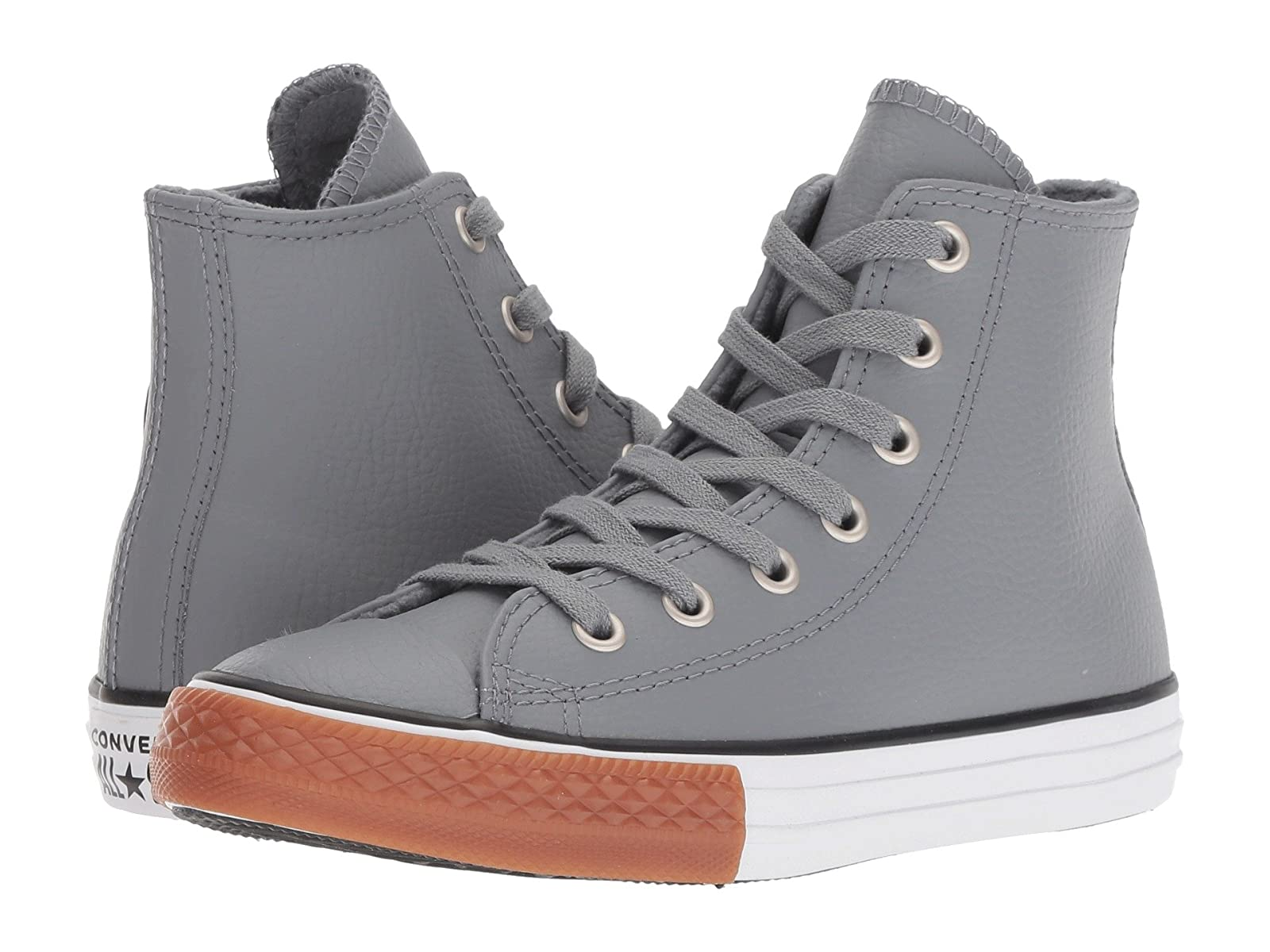 Converse Kids Chuck Taylor® All Star® Leather - Hi (Little Kid/Big Kid)Atmospheric grades have affordable shoes