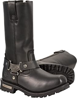 Milwaukee Leather Men's Waterproof Harness Square Toe Boots (Black, Size 11.5W/11