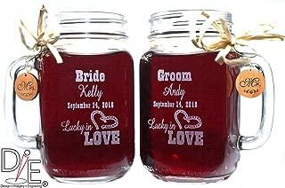 Bride and Groom Wedding Mason Jars for your Western Wedding