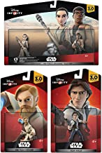 Star Wars: The Force Awakens Play Set: Finn, Rey 2-Pack Han Solo & Obi-Wan Kenobi Character Figure combo 4-Pack All New Game bundle