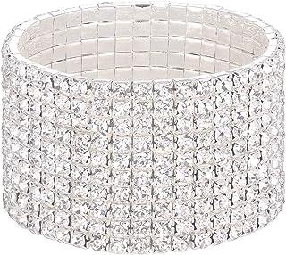 Mlouye Stretch Bracelets for Women Austrian Crystal Rhinestone