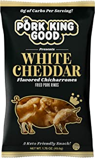 Pork King Good Pork Rinds (Chicharrones) (White Cheddar, 4 Pack)