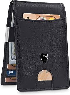 "TRAVANDO Money Clip Wallet""RIO"" - Mens Wallets slim Front Pocket RFID Blocking Card Holder Minimalist Mini Bifold Gift Box - Black - Small"