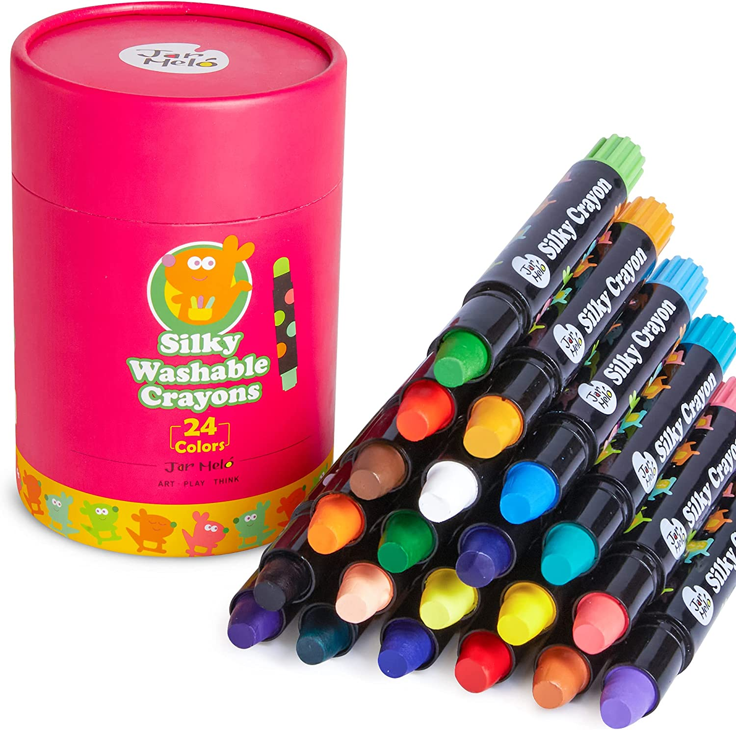 Jar Melo Washable Toddlers Crayons;24 C Minneapolis Mall Weekly update Kids Count Silky Crayons