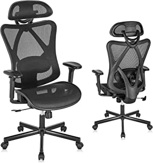 Sponsored Ad - SUNNOW Ergonomic Office Chair, Mesh Computer Desk Chair with Adjustable Lumbar Support, Armrest, Headrest -...