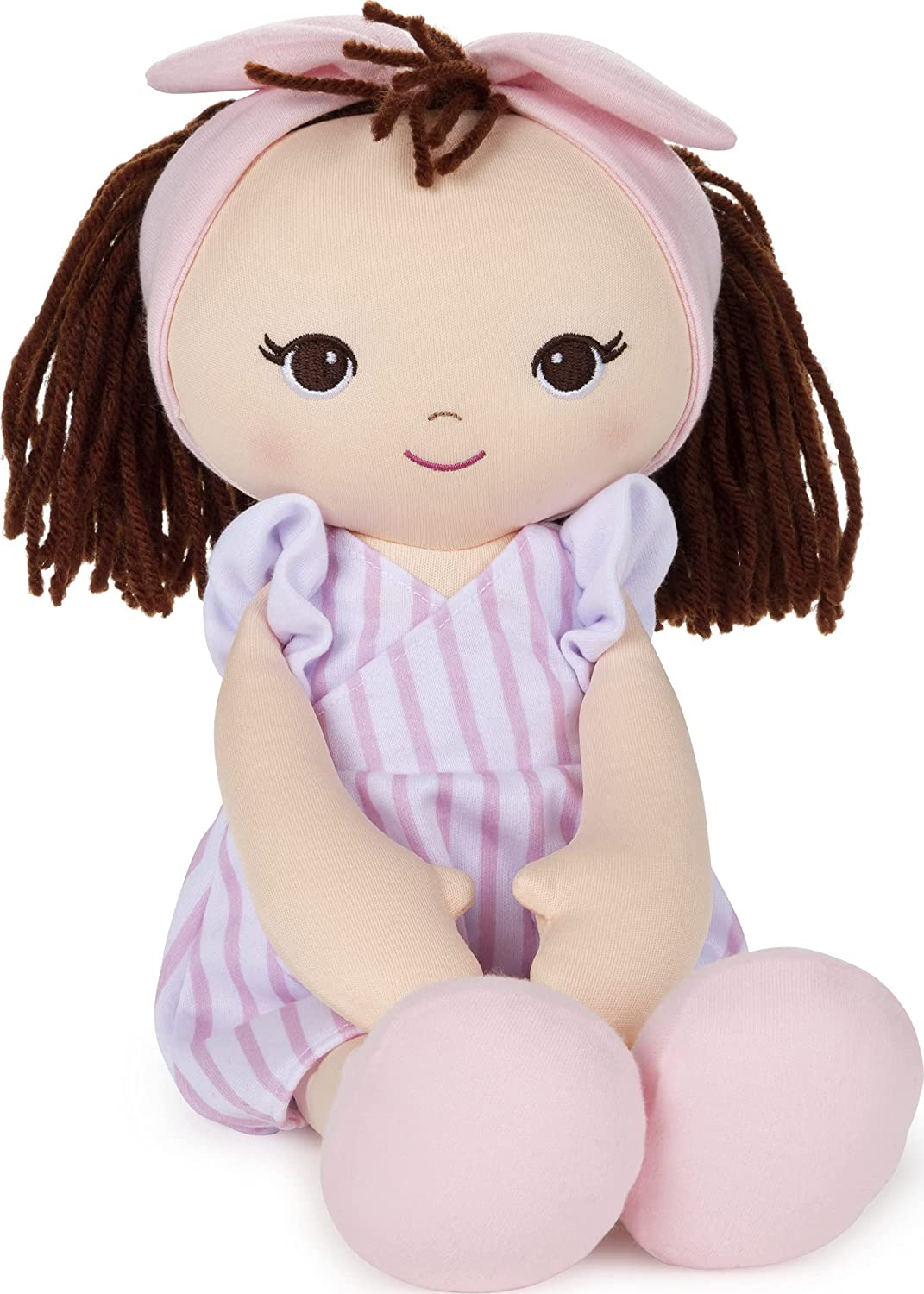 Tampa Mall GUND New product type Baby Toddler Doll Plush Striped Pink 8