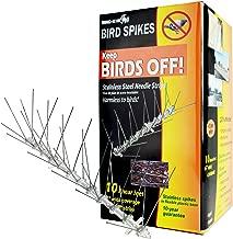 Bird-X Stainless Steel Bird Spikes Kit, Covers 10 feet