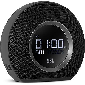 JBL Horizon - Bluetooth Clock Radio with USB Charging and Ambient Light - Black