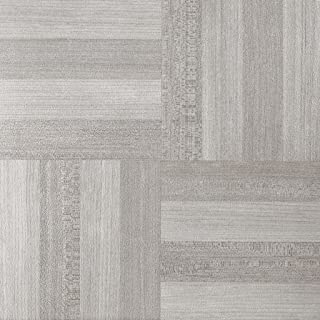 Fingers Ash Vinyl Floor Tiles Self Stick Peek Flooring 12'' x 12'' 5-Pack (100 Pieces)