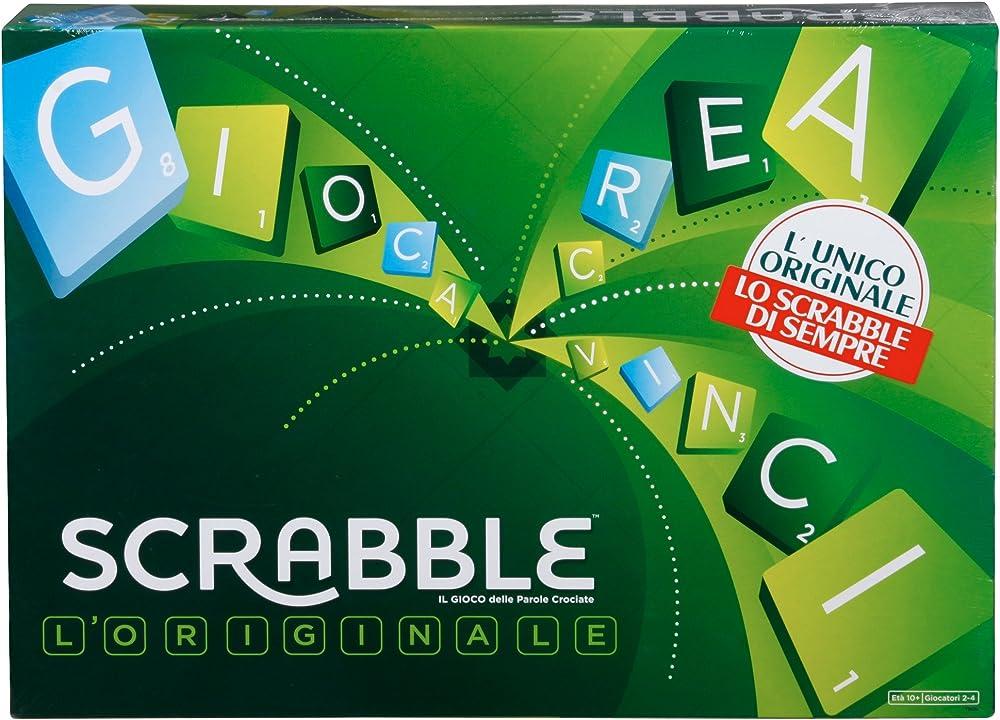 Mattel scrabble, il gioco da tavola delle parole crociate, divertimento per tutta la famiglia Y9596
