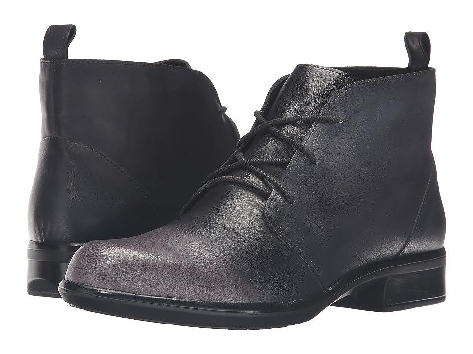 Naot Levanto (Gray/Black Leather) Women