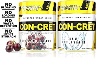 Promera Sports, CON-CRET Creatine HCl Powder Bundle, Micro-Dose Creatine, No Bloating, No Upset Stomach, No Water Retentio...