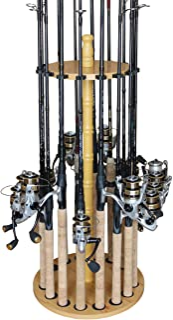 Rush Creek Creations Round 16 Fishing Rod Storage Rack -...