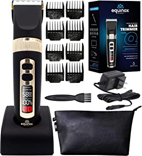 Equinox International Cordless Hair & Beard Trimmer for Men, Easy to Clean Rechargeable Electric...