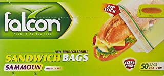 Falcon Sandwich Bags - 50 Pieces