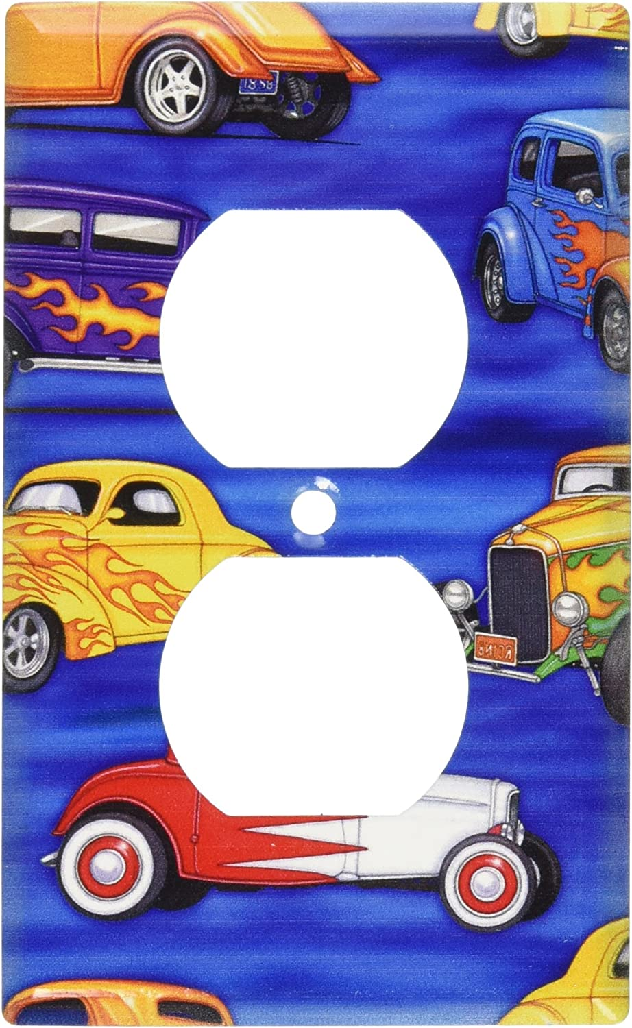 Art Plates Hot Rods Switch Plate Outlet Cover Single Switch Plates