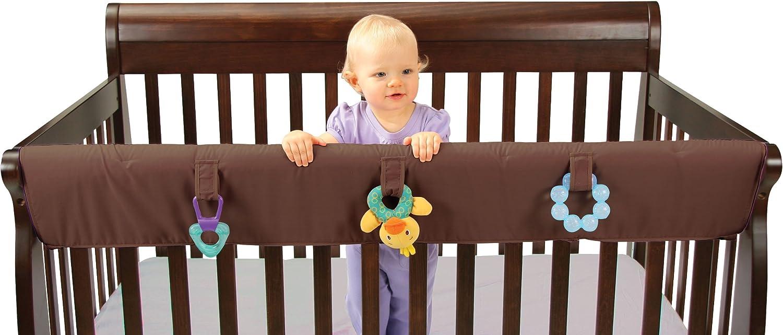 Leachco Easy Teether XL - Crib Rail Cover For Congreenible Cribs - Chocolate