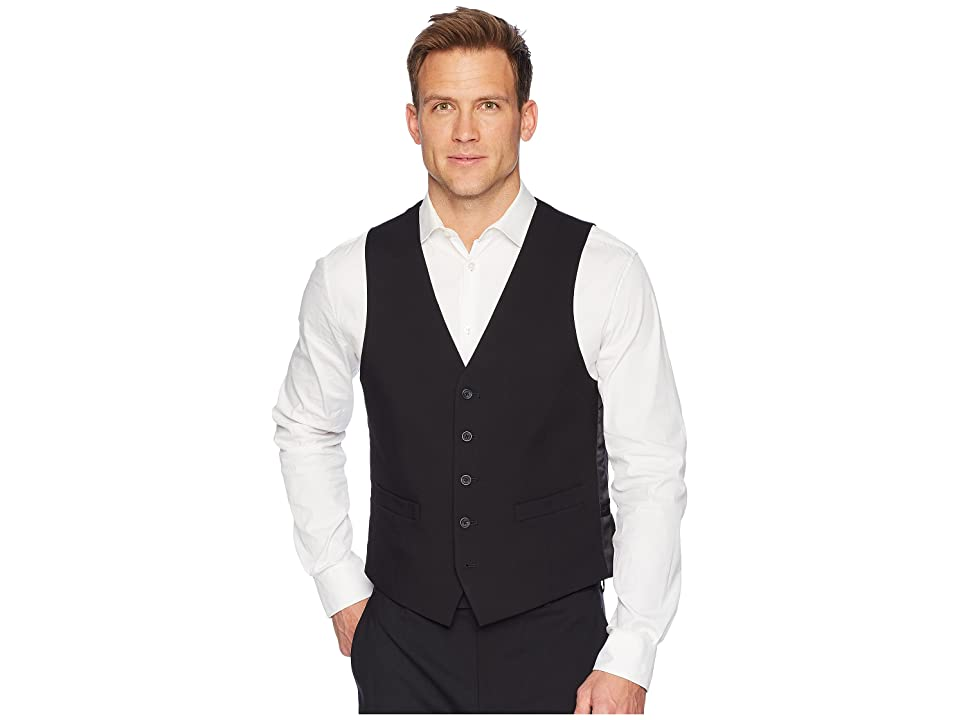 Kenneth Cole Reaction Techni-Cole Stretch Suit Separate Vest (Black) Men