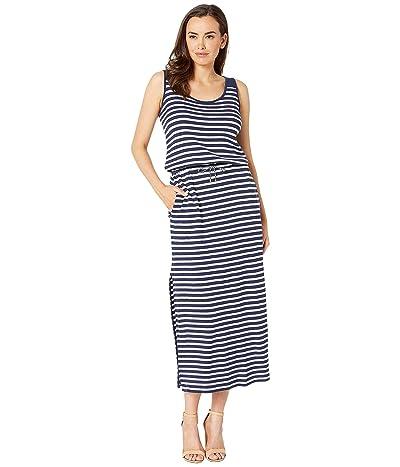 LAUREN Ralph Lauren Striped Waffle-Knit Maxi Dress (Blue) Women