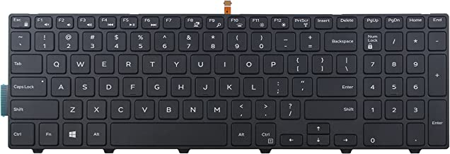 CHNASAWE Laptop Replacement Backlit Keyboard for Dell Inspiron 15 7559 , US layout Black color