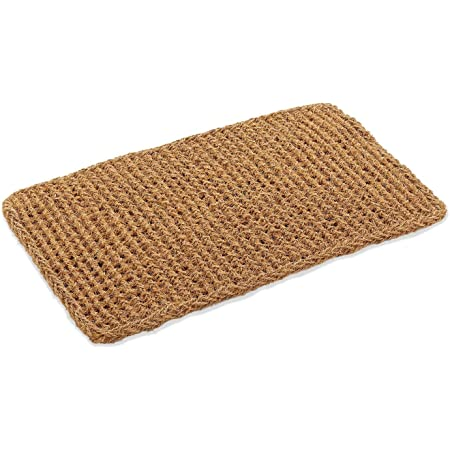 Kempf Rectangle Dragon Coco Coir Doormat, 22-inch by 36-inch, Entrance Mat, Indoor Outdoor, Natural Fiber Mat, Large Size