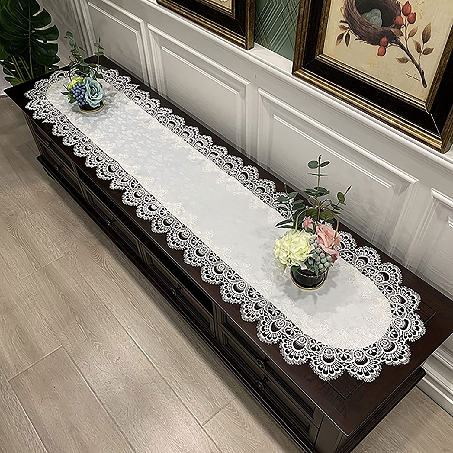 Lace Table Runner Jacquard Dresser Coffee NEW Super popular specialty store for Scarf
