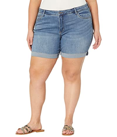 KUT from the Kloth Plus Size Catherine Boyfriend Shorts in Trustful
