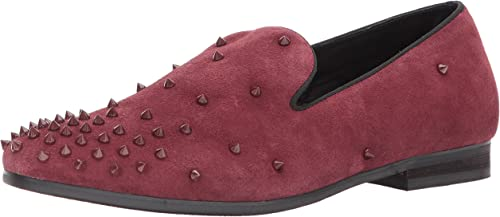 Steve Madden Hommes's Cascade Slip-On Loafer, Burgundy Suede, 12 Taille Conversion M US