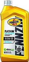 Pennzoil Platinum Full Synthetic Motor Oil  5W-30, 1 Quart – Pack of 6