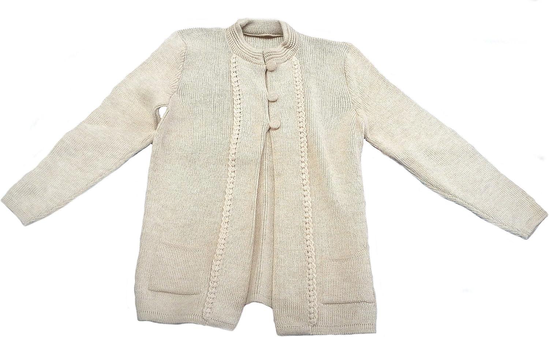 Alpakaandmore Womens Alpaca wool Cardigan 3 Buttons