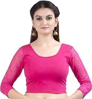 Best pink net saree with blouse Reviews