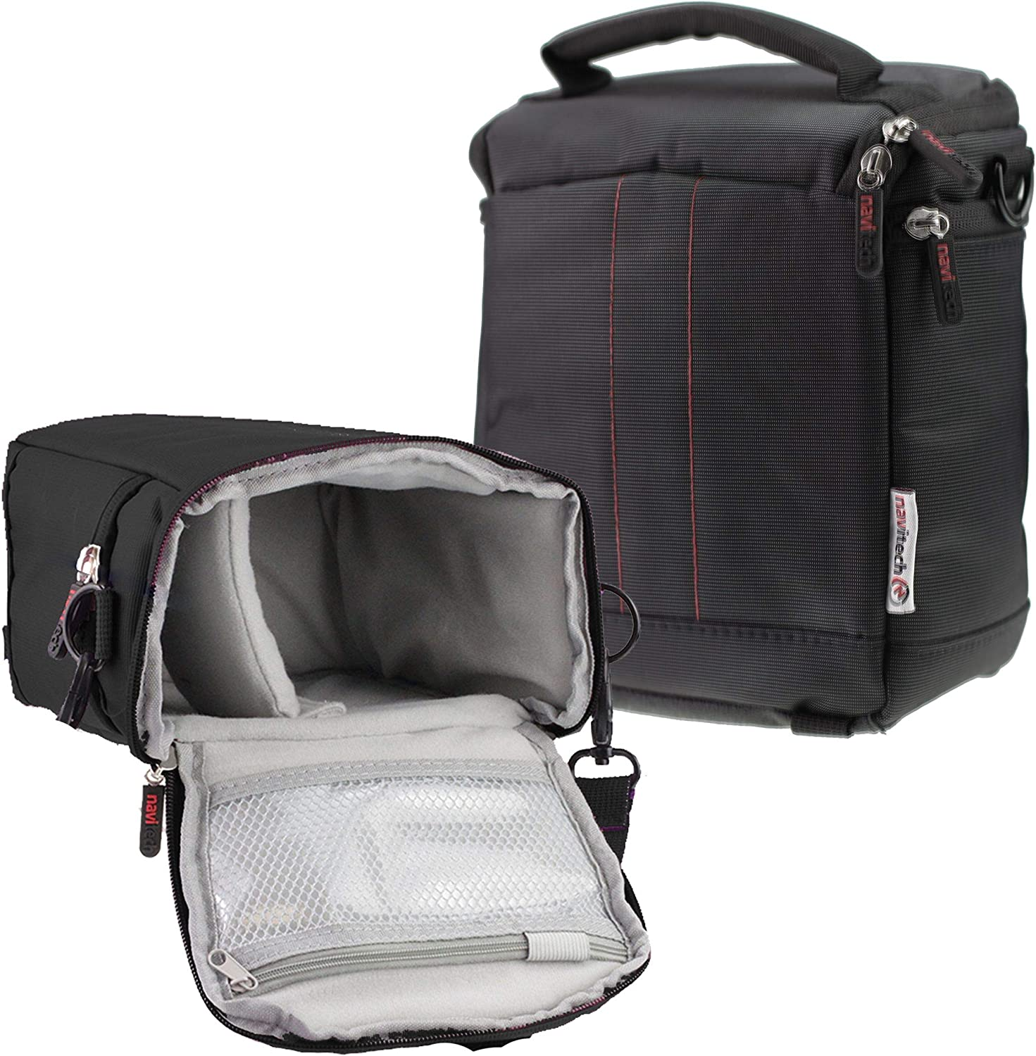 Navitech Black DSLR SLR Camera Carrying Case and Travel Bag Compatible with The Nikon D3S