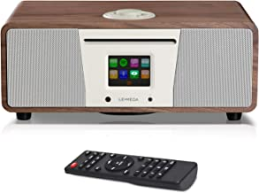 LEMEGA M4+ Connect CD Radio por Internet , Dispositivo Digital Dab/Dab+ ,Sintonizador de Radio FM con RDS , Spotify Connect , Reproductor CD , Bluetooth , AUX , USB , 30W, Pantalla TFT de 2,8