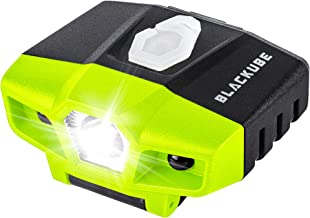 Blackube USB Rechargeable Cap Hat Light Ball Cap Visor Light - Clip Headlamp Hands Free Rotatable Cree LED Portable Clip on Cap Light for Reading Hunting Fishing Running