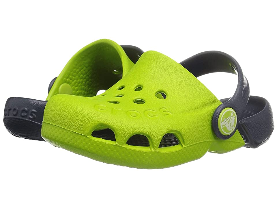 Crocs Kids Electro (Toddler/Little Kid) (Volt Green/Navy) Kids Shoes