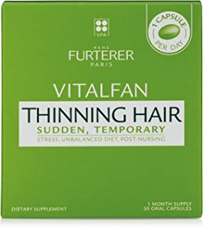 Rene Furterer VITALFAN Dietary Supplement - Sudden, Temporary Thinning Hair, Plant-Based, Biotin, Drug Free, 30 Capsules