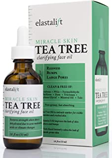 1.8 fl oz Elastalift Tea Tree Oil for face with Witch Hazel. Clarifying Tea Tree Face oil helps with Redness, Bumps, and L...