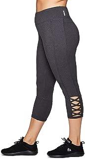 RBX Active Women's Plus Size Cotton Spandex Fashion Workout Yoga Capri Leggings