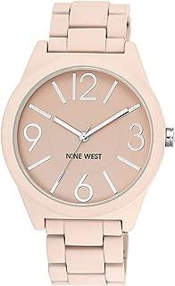 Nine West Pink Textured Bracelet Watch