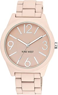 Nine West Women's NW/1679PKPK reloj para mujer con brazalete de goma color rosa mate
