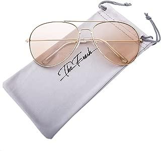 Classic Aviator Frame Light Color Lens XL Oversized Sunglasses Gift Box