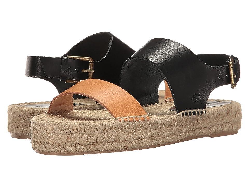Soludos Bicolor Platform Sandal (Nude/Black) Women
