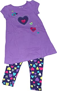 Jumping Beans Little Girls' Hearts Shirt & Leggins Set