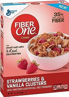 General Mills Cereals Fiber One Cereal, Strawberries and Vanilla Clusters, 13.2 oz