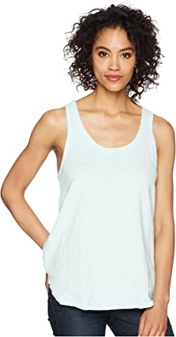 Luxe Cotton Slub Shirttail Tank Top