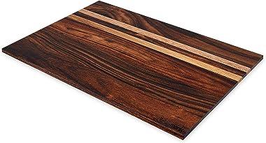 Retailmonk Wooden Stripe Shape Chopping Board, Chopping Board for Kitchen, Cutting Board, Vegetable Chopping Board for Kitche
