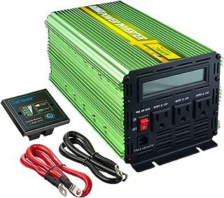 Edeoca 2000W 24V Power Inverter DC 24V to 110V AC Power Converter LCD and Remote Controller